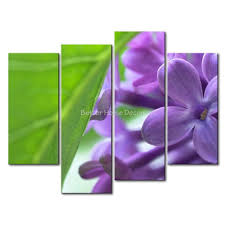 3 piece purple wall art painting lilac with green leaf print on canvas the picture flower on purple and green canvas wall art with 3 piece purple wall art painting lilac with green leaf print on