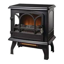 panoramic infrared electric stove in black with electronic thermostat