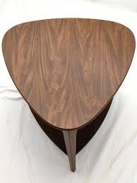 mid century modern guitar pick end side table vintage danish lane acclaim for