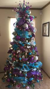 Our 2016 tree. Turquoise and purple Christmas tree. Purple Christmas Tree  DecorationsChristmas ...