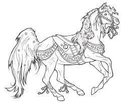 Small Picture 489 best Coloring Pages Horses Carousel images on Pinterest