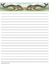 Jellyfish free printable stationery paper  lined kids writing paper with jellyfish templates happytom co