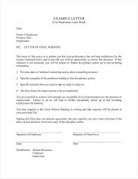 8 Sample Final Warning Letters Free Samples Examples Formats
