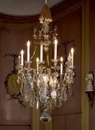 Kronleuchter Mit Behang Aus Glas 9 Kerzen Und 3 Hängelampen