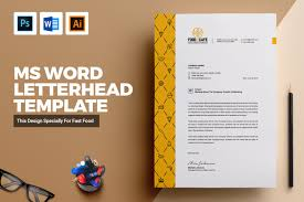 Letterhead Designs Templates Letterhead Design Template For Fast Food Free Download Graphic Dl