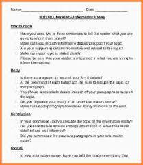 informative essay structure essay checklist informative essay structure informative essay writing checklist jpg