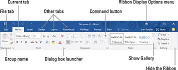 Word Ribbon How To Use The Ribbon In Word 2016 Dummies