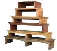 custom built media bridge tv riser choose wood size style