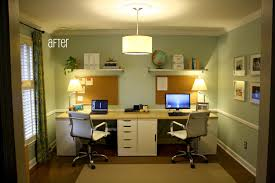 My exact idea for our double desk office slash guest bedroom!