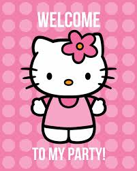 All Things Simple Free Hello Kitty Printables Invites Welcome