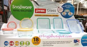 snapware pyrex glass 18 piece food keeper set costco sets