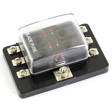 12v 24v 6 way blade fuse box holder led warning lights kit car image is loading 12v 24v 6 way blade fuse box holder