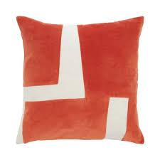 J by <b>Jasper Conran</b> Orange Cotton Rich Velvet Feather Filled ...