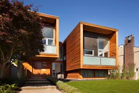 Chilliwack / Square House Facade Greeting in Wooden Face Exterior ...