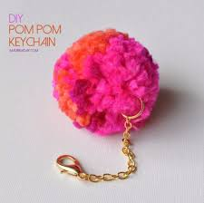 crafts to make and diy pompom keychain cool and craft projects and