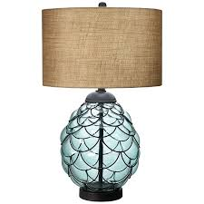 home and furniture inspiring blue glass table lamps of elegant designs lt3214 blu lamp with