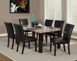 dining table parson chairs interior: elegant dining room design with black leather parsons chairs and cozy sisal rugs