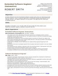 Automotive Engineer Resumes Embedded Software Engineer Resume Samples Qwikresume