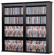 prepac double floating cd dvd wall media storage rack in black