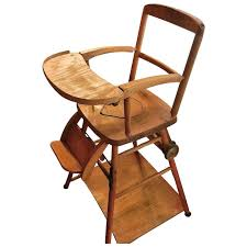 vintage wooden high chair potty chair and play chair in one
