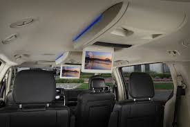 the available dual screen entertainment system gives both second and third row passengers something to do on long trips