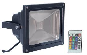 l330f led rgb flood light with wireless infrared controller