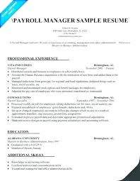 Payroll Manager Resume Sample Payroll Manager Resume Freeletter Findby Co