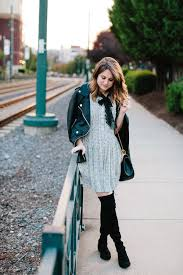 polishedclosets blogger dress jacket shoes bag black leather jacket chain bag thigh high boots boots