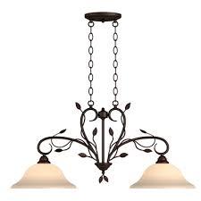 portfolio eastview 35 9 in 2 light oil rubbed bronze kitchen island light