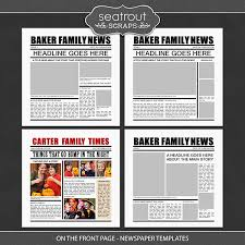 Newspaper Front Template On The Front Page Newspaper Templates Digital Art