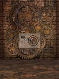wall mural steampunk steam wall