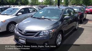 2012 Toyota Corolla S: Review - YouTube