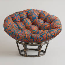 Furniture Unique Chair Design Ideas With Papasan Chair Cushion