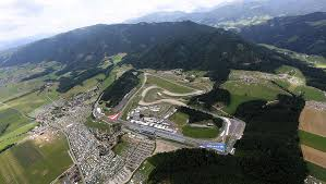 austria view red bull. GP2 Series Red Bull Ring Practice, Austria, Air View Of The Track Austria