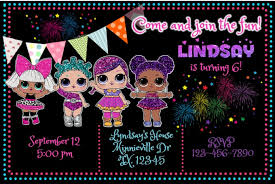 Design Party Invitations Design Lol Surprise Birthday Party Invitation