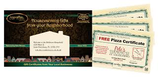 Gift Certificates For Your Business Get Local Customers With New Mover Marketing Our Town America Inc
