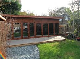 home office in the garden. Contemporary Large Home Office In Sussex - Case Study 4647 The Garden