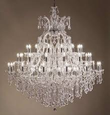 grand chandelier and wall light