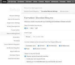 resume management zoho recruit formatted resumes