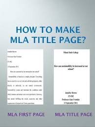Capitalization of titles in apa  mla  and turabian   ppt download MLA First Page after the Title Page