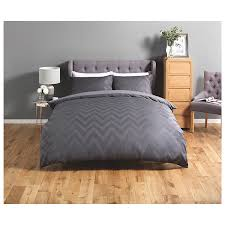 close image for sainsbury s home slate grey chevron waffle bed linen 300tc from sainsbury s