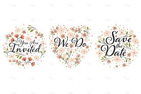 wedding designs. Wedding Clipart Designs PNG and EPS Illustrations Creative Market