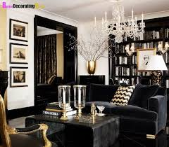 Superb Living Room   Black And Gold; Rich Tones; Photo Frames Lined Vertically;  Coffee