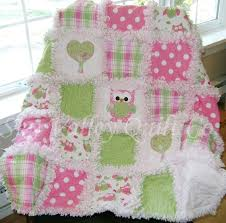 14 best Scrap Quilts images on Pinterest | Fabric, Bears and ... & Prefringed cut Rag Quilt KIT spotted owl pink and green. Adamdwight.com