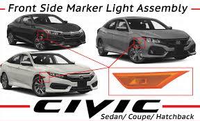 Front Side Marker Light Genuine Honda R Front Side Marker Light Assembly 33800 Tba