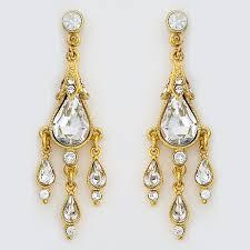gold small chandelier earrings