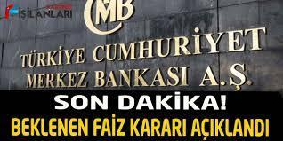 Son Dakika! Merkez Bankası Faiz Kararını Açıkladı