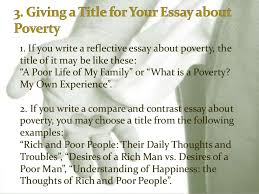 poverty essay 7 3