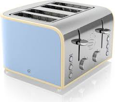 Retro Toasters Buy Swan Retro St17010bln 4slice Toaster Blue Free Delivery 6610 by guidejewelry.us