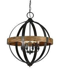 6 light chandelier dsi led costco vineyard metal and wood with seeded glass shades 6 light chandelier